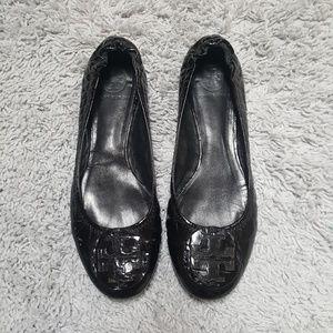 [Tory Burch] Black Patent Leather Flats